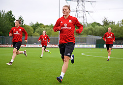NEWPORT, WALES - Tuesday, June 5, 2018: Wales' Loren Dykes during a training session at Dragon Park ahead of the FIFA Women's World Cup 2019 Qualifying Round Group 1 match against Bosnia and Herzegovina. (Pic by David Rawcliffe/Propaganda)