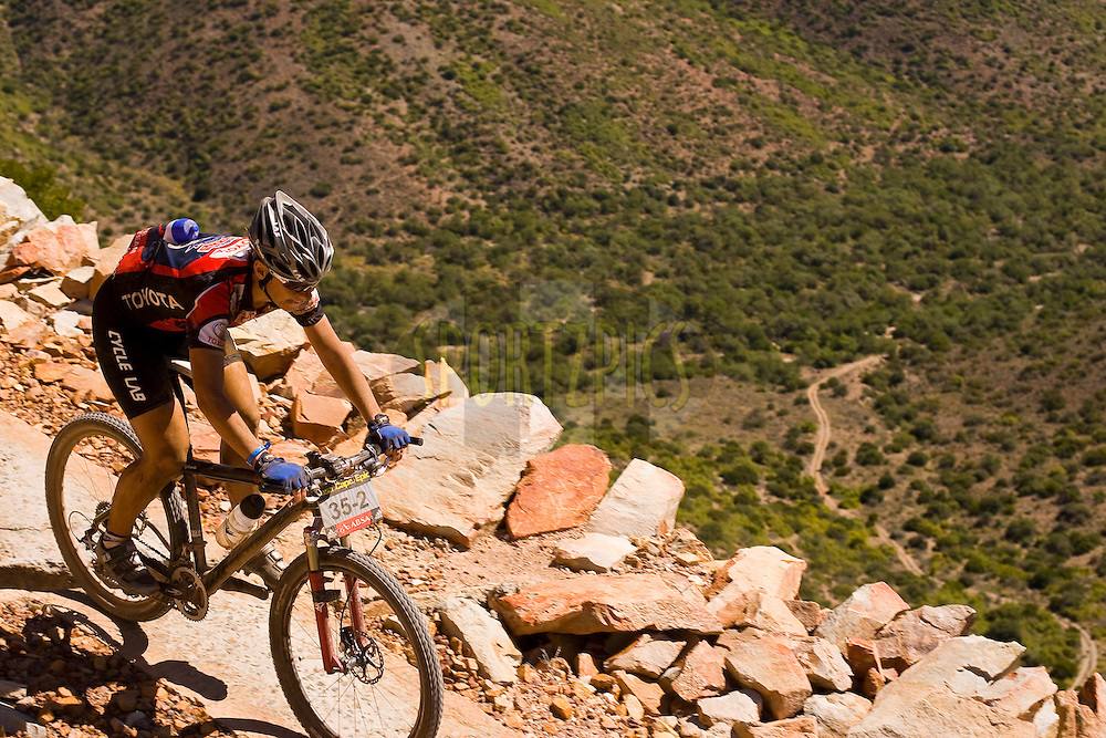 WESTERN CAPE, SOUTH AFRICA -  30 March 2008, Yolandè De Villiers, during stage two of the 2008 Absa Cape Epic Mountain Bike stage race from Saasveld Campus Nelson Mandela Metropolitan University in George to Calitzdorp Spa, Calitzdorp in the Western Cape, South Africa..Photo by Sven Martin/SPORTZPICS