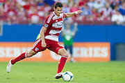 FRISCO, TX - AUGUST 11:  Matt Hedges #24 of FC Dallas controls the ball against the Los Angeles Galaxy on August 11, 2013 at FC Dallas Stadium in Frisco, Texas.  (Photo by Cooper Neill/Getty Images) *** Local Caption *** Matt Hedges