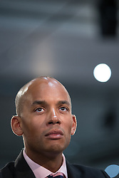 "© Licensed to London News Pictures . 01/03/2014 . London , UK . Chuka Umunna . The Labour Party hold a one day "" Special Conference "" at the Excel Centre in London today (Saturday 1st March 2014) . Photo credit : Joel Goodman/LNP"