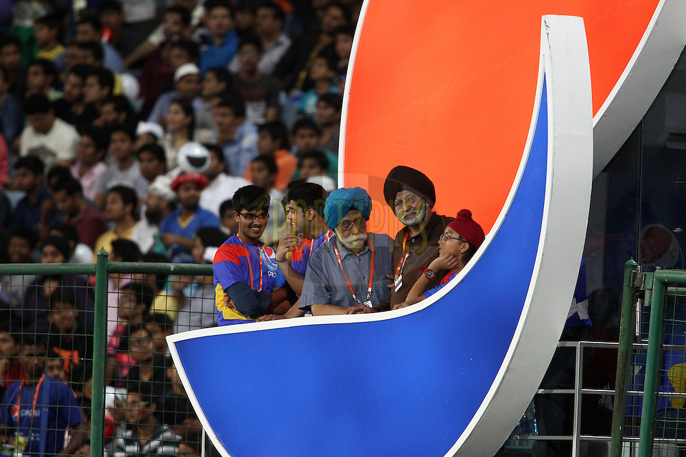 Pepsi guests during match 23 of the Pepsi Indian Premier League Season 2014 between the Delhi Daredevils and the Rajasthan Royals held at the Feroze Shah Kotla cricket stadium, Delhi, India on the 3rd May  2014<br /> <br /> Photo by Shaun Roy / IPL / SPORTZPICS<br /> <br /> <br /> <br /> Image use subject to terms and conditions which can be found here:  http://sportzpics.photoshelter.com/gallery/Pepsi-IPL-Image-terms-and-conditions/G00004VW1IVJ.gB0/C0000TScjhBM6ikg