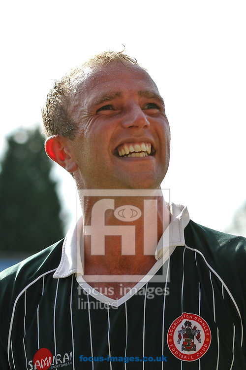 Picture by David Horn/Focus Images Ltd +44 7545 970036.18/08/2012.Ian Dunbavin of Accrington Stanley celebrates victory during the npower League 2 match at Roots Hall, Southend.