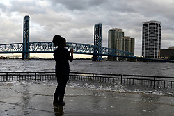 Hurricane Irma causes flooding in Jacksonville, Florida, USA, on September 11, 2017 after the storm system took an unexpected turn and caused major devastation and large scale power outages in the state.