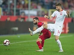 October 11, 2018 - Chorzow, Poland - Rafa Silva, Mateusz Klich (POL) during the UEFA Nations league match between Poland v Portugal at the Slaski Stadium on October 11, 2018 in Chorzow  (Credit Image: © Foto Olimpik/NurPhoto via ZUMA Press)