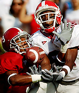 Alabama's Anthony Madison commits pass interference against Georgia's Fred Gibson in the end zone. Photo by Columbia, SC, photojournalist Jeff Blake