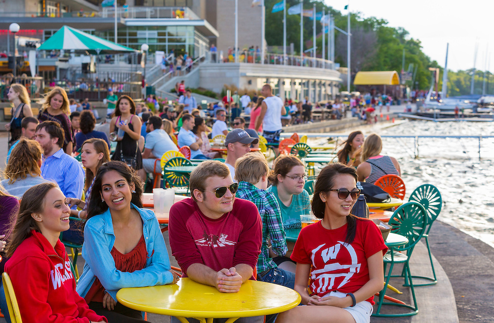 The Terrace at Memorial Union on University of Wisconsin-Madison campus. (Photo © Andy Manis)