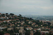 France . elevated view on Hyeres area