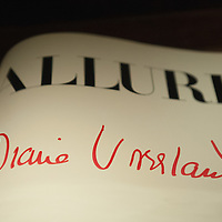 "VENICE, ITALY - MARCH 09:  A signature of Diana Vreeland is seen on a copy of the magazine Allure at the press preview of ""Diana Vreeland After Diana Vreeland"" at Palazzo Fortuny on March 9, 2012 in Venice, Italy. This is the first major exhibition to be dedicated to Diana Vreeland. Open until June 25th it will explore the many sides of her work and seek to offer a fresh approach with which to interpret the elements of her style and thinking."