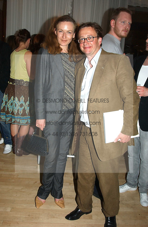 SEBASTIAN CONRAN and GERTRUDE THOME at a party at The Sanderson Hotel on 9th June 2005 to launch 50 Gramercy Park North - Ian Schrager's show-stopping new residential project in New York City. Schrager, with the help of UK architect John Pawson, is building a block of 23 original residences facing Gramercy Park, inbetween two blocks of the Gramercy Park Hotel. <br /><br />NON EXCLUSIVE - WORLD RIGHTS