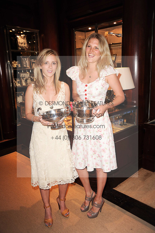 Left to right, CHARLOTTE COOKSON, HARRY BEECHER and OLIVIA PERCIVAL at the Ralph Lauren Wimbledon Party held at Ralph Lauren, 1 New Bond Street, London on 17th June 2010.
