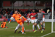 Dylan Connolly of Bradford City in action during the EFL Sky Bet League 2 match between Salford City and Bradford City at the Peninsula Stadium, Salford, United Kingdom on 7 March 2020.