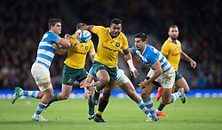 October 9, 2016 - London, Greater London, England - Australia's Samu Kerevi during The Rugby Championship match between Argentina and Australia at WembleyTwickenham on 8th October 2016  (Credit Image: © Kieran Galvin/NurPhoto via ZUMA Press)