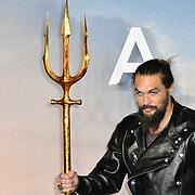 Jason Momoa Arrivers at Aquaman - World Premiere at Cineworld Leicester Square on 26 November 2018, London, UK.