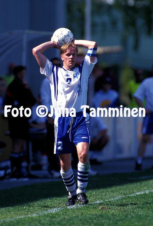 07.06.1997, Vaasa, Finland..UEFA Under-21 European Championship Qualifying Match, Finland v France.  .Jarkko Koskinen - Finland U-21.©Juha Tamminen
