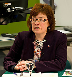 Pictured: Sarah Boyack (Labour candidate for Edinburgh Central)<br /> <br /> Candidates from the five main parties will face questions from both a live audience and viewers at home via videolink and social media at an event organised by Stop Climate Chaos Scotland and chaired by journalist David Torrance. The panelists are Labour's Sarah Boyack, Mark Ruskell of the Greens, Ben MacPherson of the SNP, the Lib Dems' Ettie Spencer and Tory Jeremy Balfour<br /> <br /> Ger Harley | EEm 18 April 2016