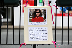 © Licensed to London News Pictures. 16/06/2017. Birstall, UK. Tributes are left in Birstall town square where the Labour MP Jo Cox was murdered a year ago today. Events are planned to take place across the country this weekend in memory of Jo Cox in what is being called 'The Great Get Together'. Photo credit : Ian Hinchliffe/LNP