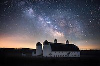 The Milky Way shows its brilliance over the D.H. Day Farm - Sleeping Bear Dunes National Lakeshore