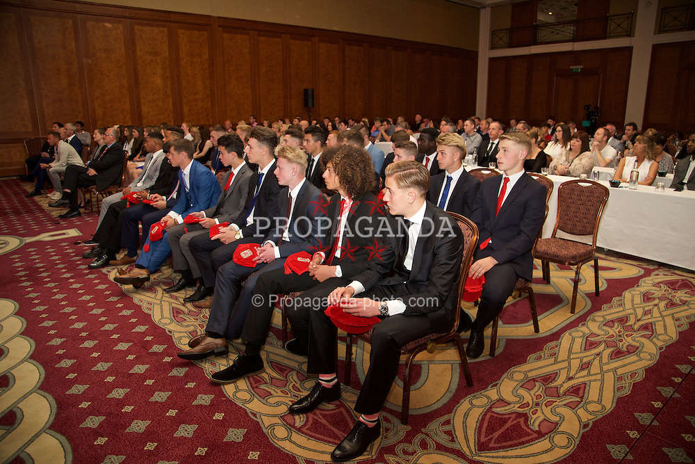 NEWPORT, WALES - Saturday, May 30, 2015: Wales Under-16's caps presentation at the Celtic Manor Resort. (Pic by David Rawcliffe/Propaganda)