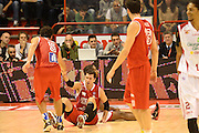 DESCRIZIONE : Pistoia Lega serie A 2013/14  Giorgio Tesi Group Pistoia Pesaro<br /> GIOCATORE : Musso Bernardo<br /> CATEGORIA : fair play a terra<br /> SQUADRA : Pesaro Basket<br /> EVENTO : Campionato Lega Serie A 2013-2014<br /> GARA : Giorgio Tesi Group Pistoia Pesaro Basket<br /> DATA : 24/11/2013<br /> SPORT : Pallacanestro<br /> AUTORE : Agenzia Ciamillo-Castoria/M.Greco<br /> Galleria : Lega Seria A 2013-2014<br /> Fotonotizia : Pistoia  Lega serie A 2013/14 Giorgio  Tesi Group Pistoia Pesaro Basket<br /> Predefinita :