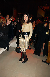 LARA BOHINC at the launch party for Donna Karan's new fragrance Gold held at the Donna Karan store, 19 New Bond Street, London on 16th November 2006.<br />