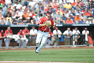 Mississippi's Christian Trent (47) fields for an out vs. Texas Tech at T.D. Ameritrade Park in the College World Series in Omaha, Neb. on Tuesday, June 17, 2014. Ole Miss won 2-1.