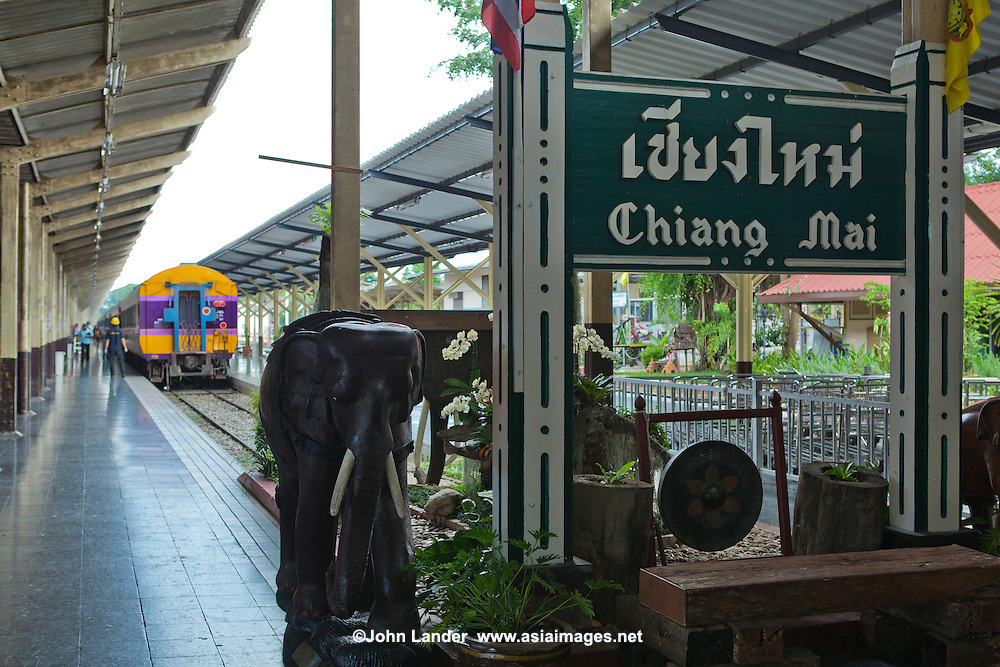 Chiangmai railway station opened for service in 1922. The execursion train from Bangkok to Chiang mai was introduced in 1933..The first Chiang Mai Station building was destroyed by bombs from Allied Forces on December 21, 1943. It was rebuilt in 1945 and reopened in 1948 even though Northern Express services were resumed on August 4, 1946...