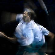 16.11.2017 Nitto ATP World Tour Finals at O2 Arena London UK Roger Federer SUI v Marin Cilic CRO  Federer images shot as special multiple exposures in camera
