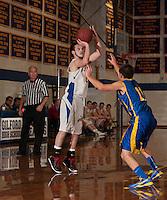 Gilford versus Franklin boys varsity basketball at Gilford High School.  Karen Bobotas/for the Laconia Daily Sun