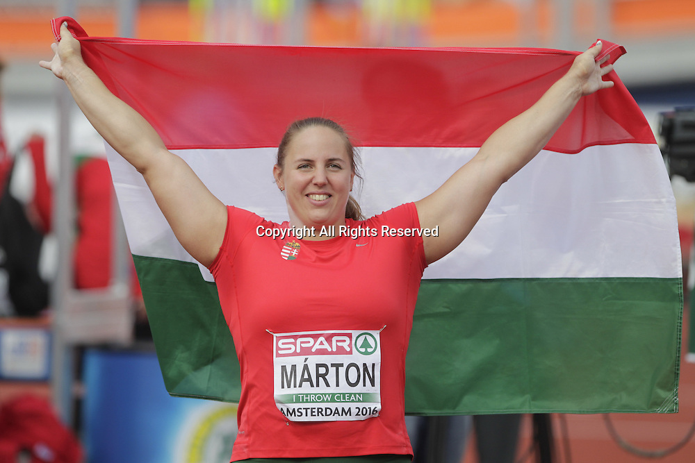 07.07.2016. Amsterdam, Holland. The European Athletics Championships.  Anita Marton (bulgaria) comes 2nd oin the women's shot putt