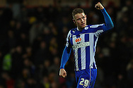 Picture by David Horn/Focus Images Ltd +44 7545 970036<br /> 14/12/2013<br /> Connor Wickham of Sheffield Wednesday salutes travelling fans after Sky Bet Championship match at Vicarage Road, Watford.