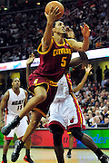 Dec. 2, 2010; Cleveland, OH, USA;  Cleveland Cavaliers center Ryan Hollins (5) drives to the basket during the third quarter against the Miami Heat at Quicken Loans Arena. The Heat beat the Cavaliers 118-90. Mandatory Credit: Jason Miller-US PRESSWIRE