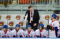 Tony Hand, head coach of Great Britain during ice-hockey match between Great Britain and Slovenia at IIHF World Championship DIV. I Group A Slovenia 2012, on April 15, 2012 in Arena Stozice, Ljubljana, Slovenia. (Photo by Vid Ponikvar / Sportida.com)