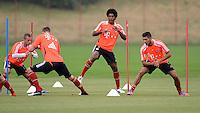 FUSSBALL  1. BUNDESLIGA   SAISON  2012/2013  03.07.2012 Trainingsauftakt beim FC Bayern Muenchen  Dante, Emre Can (v. li.)