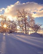 Lake Tahoe Landscape Winter Sunburst