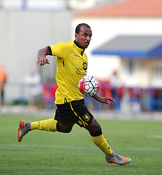 Aston Villa's Gabriel Agbonlahor  - Photo mandatory by-line: Joe Meredith/JMP - Mobile: 07966 386802 - 17/07/2015 - SPORT - Football - Albufeira - Estadio Da Nora - Pre-Season Friendly