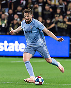 Sporting KC defender Andreu Fontas (4) during a MLS soccer match against the LAFC in Los Angeles, Sunday, March 3, 2019. LAFC defeated Sporting KC, 2-1. (Ed Ruvalcaba/Image of Sport)
