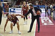 pozzecco ,  Bruno Cerella<br /> Legabasket Serie A  Campionato 2018/2019 <br /> Umana Reyer Venezia Banco di Sardegna Sassari 78 - 65 <br /> Finale Playoff - Gara 5 18/06/2019<br /> Venezia Taliercio18/06/2019 Ore 20:45<br /> Foto GiulioCiamillo/Ciamillo