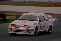 #19 Dennis Leech Judge Developments Ford Sierra RS500  during Round 1of the 1991 British Touring Car Championship at Silverstone, Towcester, Northamptonshire, United Kingdom. 1st April 1991, World Copyright Peter Taylor/PSP. Copy of publication required for printed pictures.