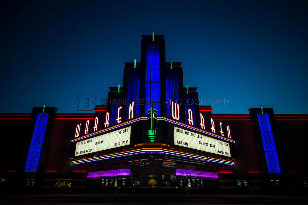 8/10/15 8:35:38 PM --  Exterior photos of the Warren Theatre in Broken Arrow, Oklahoma. <br /> <br /> Photo by Shane Bevel