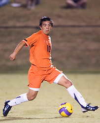 Virginia Cavaliers MF Jonathan Villanueva (10)..The #4 ranked Virginia Cavaliers men's soccer team defeated the Mount Saint Mary's Mountaineers 3-0 at Klockner Stadium in Charlottesville, VA on September 25, 2007.