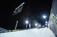 Danny Davis during Superpipe Practice at the 2016 X Games Aspen in Aspen, CO. ©Brett Wilhelm/ESPN