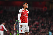 Arsenal Forward Pierre-Emerick Aubameyang (14) during the Europa League group stage match between Arsenal and Sporting Lisbon at the Emirates Stadium, London, England on 8 November 2018.