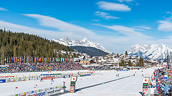 21.02.2019, Langlauf Arena, Seefeld, AUT, FIS Weltmeisterschaften Ski Nordisch, Seefeld 2019, Langlauf, Damen, Sprint, im Bild Übersicht Stadion // overview of the stadium during the ladie's Sprint competition of the FIS Nordic Ski World Championships 2019. Langlauf Arena in Seefeld, Austria on 2019/02/21. EXPA Pictures © 2019, PhotoCredit: EXPA/ Stefan Adelsberger
