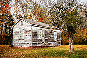 A small abandoned house on Old Greensboro Road near High Point, NC.