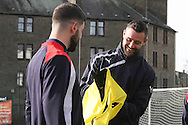 Dundee&rsquo;s Marcus Haber and Kostadin Gadzhalov - Dundee FC training ahead of the visit to Motherwell at GA Arena, Dundee.Photo: David Young<br /> <br />  - &copy; David Young - www.davidyoungphoto.co.uk - email: davidyoungphoto@gmail.com