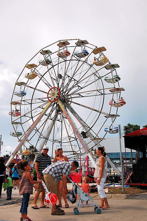 Ferris wheel at carnival.