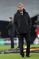 18.02.2016, WWK Arena, Augsburg, GER, UEFA EL, FC Augsburg vs FC Liverpool, Sechzehntelfinale, Hinspiel, im Bild Trainer Juergen Klopp ( FC Liverpool ) // during the UEFA Europa League Round of 32, 1st Leg match between FC Augsburg and FC Liverpool at the WWK Arena in Augsburg, Germany on 2016/02/18. EXPA Pictures © 2016, PhotoCredit: EXPA/ Eibner-Pressefoto/ Langer<br /> <br /> *****ATTENTION - OUT of GER*****