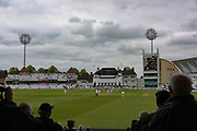 First over at the start of the Specsavers County Champ Div 2 match between Nottinghamshire County Cricket Club and Sussex County Cricket Club at Trent Bridge, West Bridgford, United Kingdon on 21 April 2017. Photo by Simon Trafford.