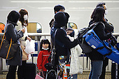 Families flee Tokyo during the nuclear crisis, Mar 2011