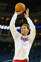 October 29, 2010; Oakland, CA, USA;  Los Angeles Clippers power forward Blake Griffin (32) warms up before the game against the Golden State Warriors at Oracle Arena.